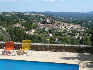 Callian Provence Var, Stone house 7p, privat pool, superb view