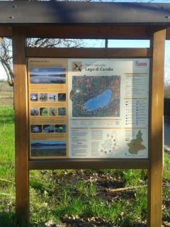 Cartina del Parco Naturale del lago di Candia distanza in macchina 5min.