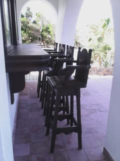 The outside bar area..