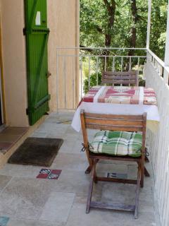 Terrasse de la chambre Côte Bleue, n°1, Villa Victoria Greasque