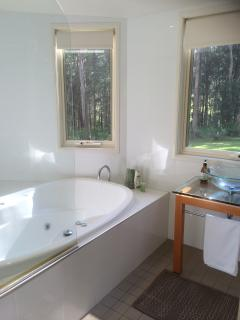 Main bathroom with double spa bath