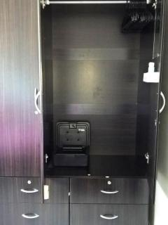 Closets with locks ; security box for your security.