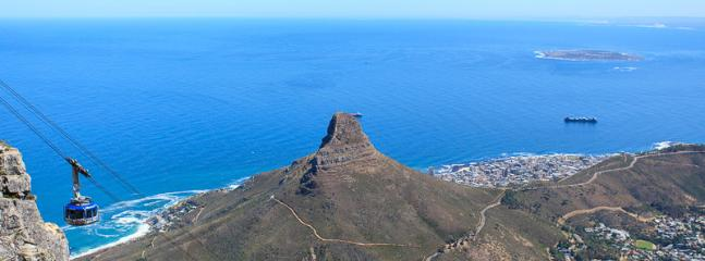 Lions Head - view from atop Table Mountain