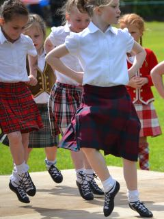 Scottish Country Dancing is a big thing here and they start young! This from our Gala Day