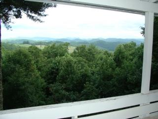 Enjoy the views from the covered deck