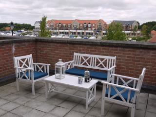 Terrace overlooking the marina