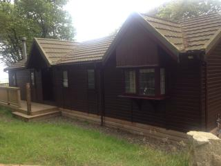 'The Gate House' Log Cabin With Private Hot Tub at Mockham Down Farm, Devon