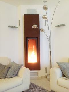 Fireplace for cosy winter evenings