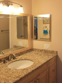Granite in bathroom and kitchen