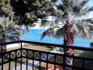 Luxurious duplex apartment 15 m. from the beach., Mola Kalyva
