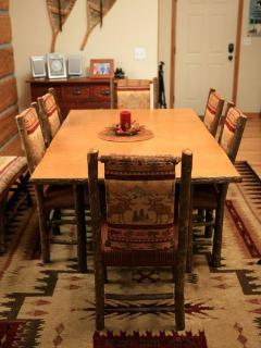 Dining table with seating for six