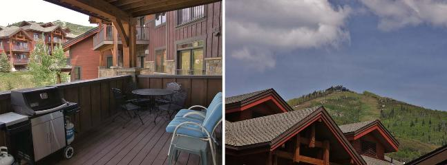 The Condo has an Oversized Deck with Furniture, Gas Grill, Ski Area View