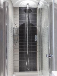 Shower room with rainfall show head