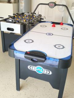 Games Room with Air Hockey and Soccer Table