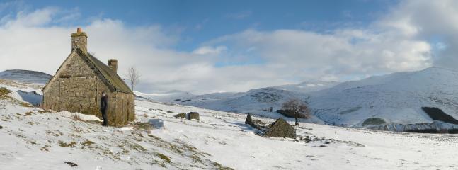 Winter scene in the hills behind us