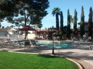 Resort style living in the gated Sun Lakes Az.