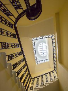 The stairwell with just 3 properties