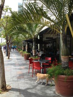 1 block from cafes, restaurants, bars, hotels, entertainment, everything