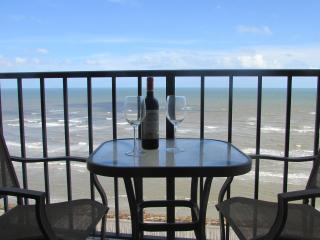Unobstructed 180 degree Gulf views from 10th floor, Galveston