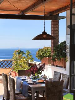 Villa Dafne Sorrento apt Rose - dining terrace