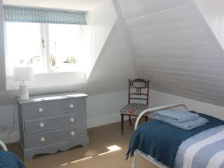 Attic Twin Room with fantastic views and antique furniture