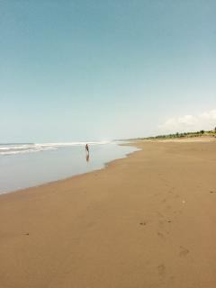 Walking on Esterillos Beach