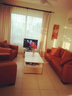Lounge with Satellite TV/DVD player