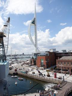 View of Spinnaker Tower from the balcony