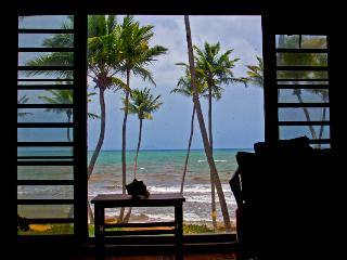 Beach Village, Oceanfront, Incredible View Villa steps to the Beach (BV 101), Humacao