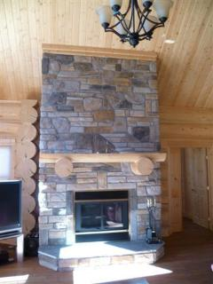 Fireplace in Lounge for burning logs during the winter