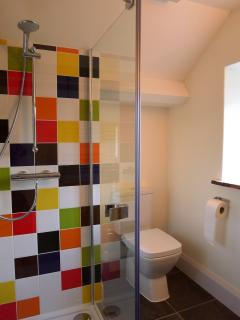 a splash of colour in the shower
