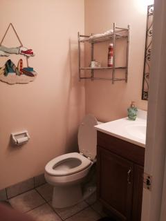 2nd bathroom is full size with tub/shower combo