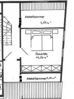 Grundriss vom Schlafzimmer