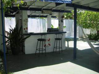 Back patio wet bar.