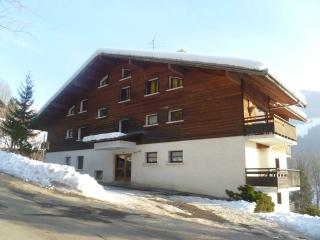 The apartment is located on 1st and 2nd floor on the left of Perce Neige Chalet