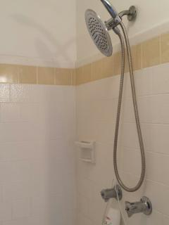 Extra larger shower & showerheads