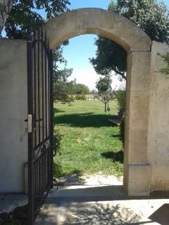 le portail de la piscine