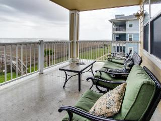 Beachside, dog-friendly condo with views; shared pool & hot tub!