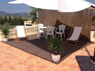 Chillout zone on Casa Limones rooftop: great venue for early evening cocktails.