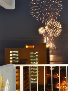 Watch fire work show in living room and lanai