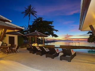 Villa 15  - Beach front (2 BR option) private pool and sunset views, Plai Laem
