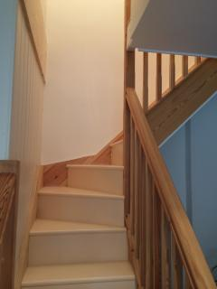 Characterful, cottage staircase