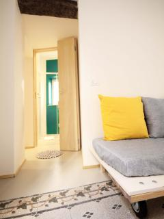 Zona living-bagno