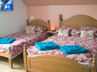 The family room is 55 euros per night (3 people) or 43 euros per night (2 people).
