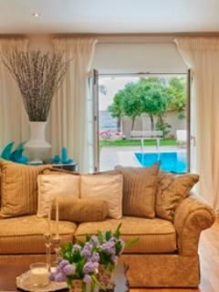 View of the pool from the living room
