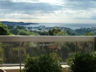 Deux pieces Luxe vue mer tennis piscine pour la saison de foot ALLIANZ RIVIERA..