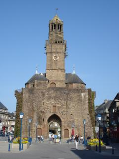 Ancient monument in Vire town centre.