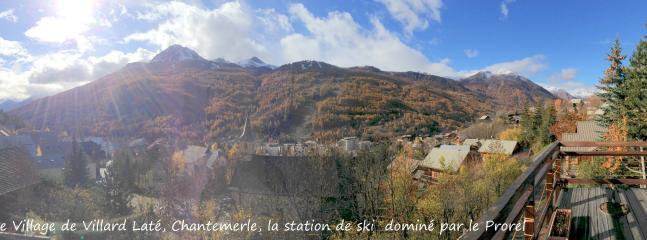 Vue sur Serre Chevalier Vallée départ de Chantemerle
