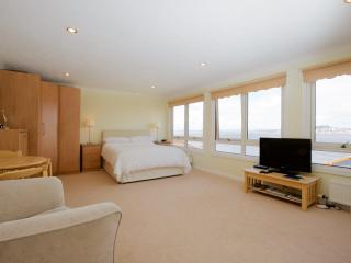 A stunning view as you enter the spacious double room.