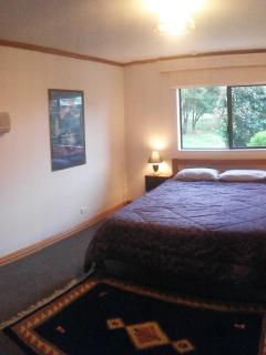 Accessible bedroom with ensuite downstairs
